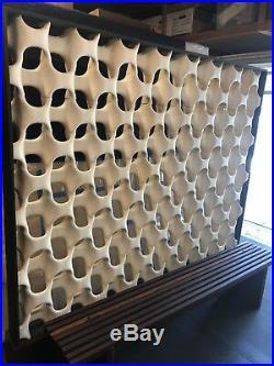 Rare 1960 Don Harvey Sculpta Grill Room Divider Framed