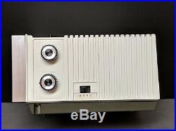 Rare 1970's Clock Eames Space Age Retro Mid Century Modern Am/Fm Radio Mod White