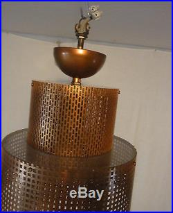 Rare 50´s Ceiling Lamp Grids Lucite Industry Design Mategot Style #1