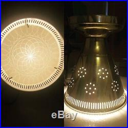 Rare 50s 60's Vintage Ceiling Light Lamp Fixture atomic mid-century eames porch