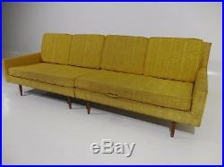 Rare 60's Vintage Paul McCobb Widdicomb 2pc Sectional Sofa Mid Century Modern