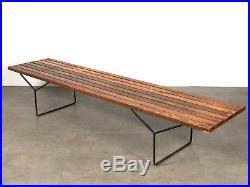 Rare 82 Early Harry Bertoia Slat Bench Knoll Mid Century Modern Vtg Authentic