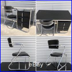 Rare ART DECO Machine Age Desk & Chair KEM WEBER LLOYD CHROME MID CENTURY MODERN