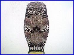 Rare Abraham Palatnik MID Century Large 15 1/8 Tall Owl Op Art Lucite Sculpture