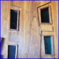 Rare American EDGAR BRITTON Mid Century Modern Walnut Door 1962