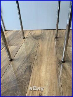 Rare Arne Jacobsen Finn Juhl Wegner Era Danish Teak/stainless End Table Eames