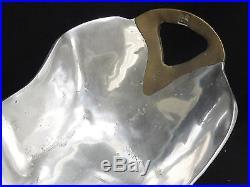 Rare Brutalist David Marshall Disenos Spain Brass & Cast Aluminum Centerpiece