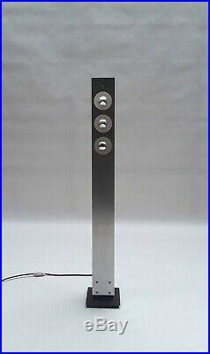 Rare Dutch Aluminum/Metal Floor-lamp by Anvia 60s 70s mouille pergay sauze era