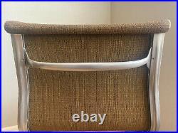 Rare Eames Aluminum Group Chair 1st yr Saran Upholstery Herman Miller Girard