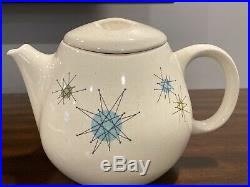 Rare Franciscan Atomic Starburst Teapot Tea Pot with Lid, No Chips. AWESOME FIND