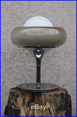 Rare HARVEY GUZZINI 1960s Space age mid century table lamp