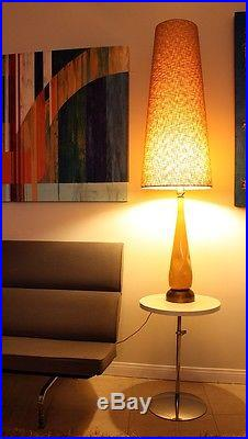 Rare HUGE 61 Space Age Karpen of California Cone Mid Century Modern Table Lamp