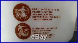 Rare Htf 1963 Pyrex Nemacolin Country Club Banquet 475 Casserole Zodiac