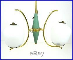 Rare Italian Vintage Chandelier MID Century Modernism Ceiling Lamp Stilnovo 1950