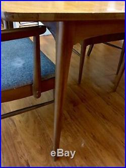 Rare Kent Coffey Perspecta Dining Table Mid Century Leaf Walnut Wood Vintage 60s
