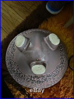 Rare Large TRIPOD IRON BULLET PLANTER MID CENTURY Retro Ceramic MCCOBB 50s