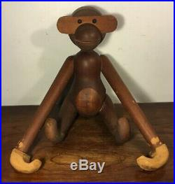 Rare Large Vintage Kay Bojesen Danish Teak Monkey Signed 24 Denmark Mid Century