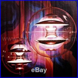 Rare Louis Poulsen VP-GLOBE Verner PANTON Space Age Mid Century Modern Lamp 60s
