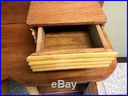 Rare MID Century Art Deco Rattan Bamboo Desk Tropical Tiki