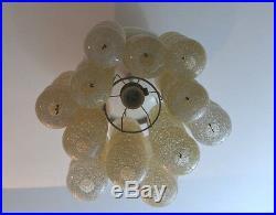 Rare Mid Century Design Acrylic Granulate 66Balls on Chains Pendant Panton Style