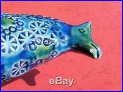 Rare Mid Century Italian Ceramic Rimini Blue Horse era Bitossi Raymor Aldo Londi