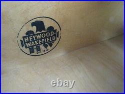 Rare Mid Century Modern Heywood Wakefield 6 Drawer Highboy Dresser In Oak