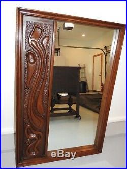 Rare Mid Century Modern Mirror by Pulaski Witco Oceanic tiki
