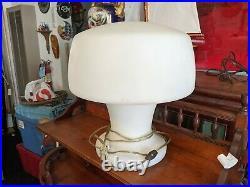 Rare Mid Century Modern Mushroom Lamp by Laurel, Made in Italy, Circa 1960