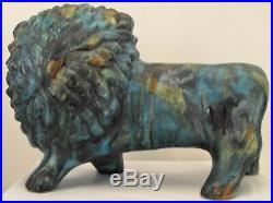 Rare Mid Century Modern Raymor ALVINO BAGNI Lion Pottery Figure Italy