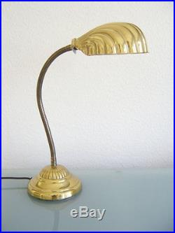 Rare Mid Century Modern TABLE LIGHT Desk Lamp LEAF Art Nouevo TOMMASO BARBI Era