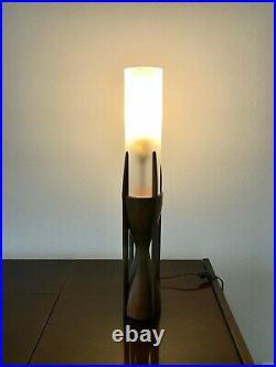 Rare Mid Century Modern TEAK Lamp by The Modeline Lamp Co
