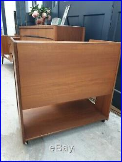 Rare Mid-Century Teak Double Sided Drinks Trolley McIntosh DELIVERY AVAILABLE