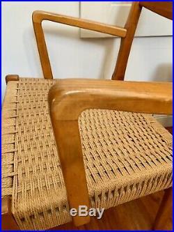 Rare Mid Century Wegner Mobler Arm Chair Danish Teak Dining Wood Poul Volther