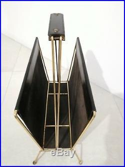 Rare Mid Century french designer Jacques Adnet magazine rack porte-revue