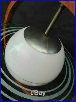 Rare Mid century Art Deco GIO PONTI PIETRO CHIESA Saturn Chandelier italy 1930s