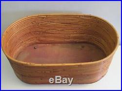 Rare Mid-century Modern Italian Rattan Rolling Basket Albini Helg Tiki Eames Era