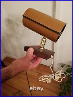 Rare Mid century Modern Jacques Adnet Attributed Leather Lights
