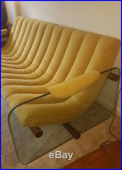 Rare Mid century modern designer glass sofa Adrian pearsall