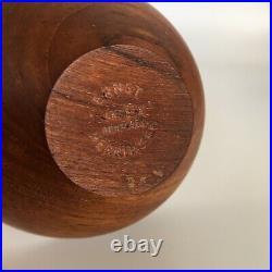 Rare Midcentury Danish Teak Finn Juhl Style Bowl By Ernst Henriksen