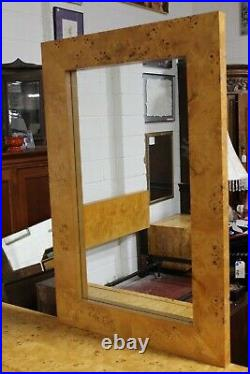 Rare Milo Baughman for Thayer Coggin Burl Wood Mirror Mid Century Modern