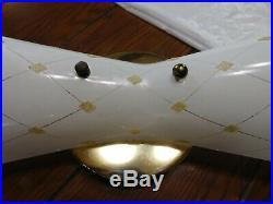 Rare Moe mid century bath bathroom vanity light fixture lamp retro sconces rare