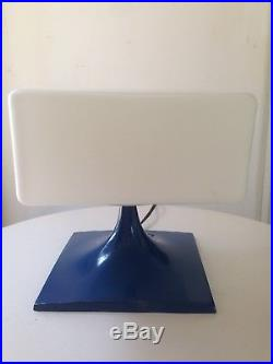 Rare Original Vintage Frosted Square Glass Shade Laurel Lamp Mid Century Modern