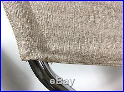 Rare Pair Erik Magnussen Tubular Chrome Sling Z Lounge Chairs Mid Century Modern