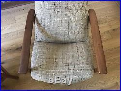 Rare Pair Mid Century Danish Modern Teak Folke Ohlsson Dux Chair Eames