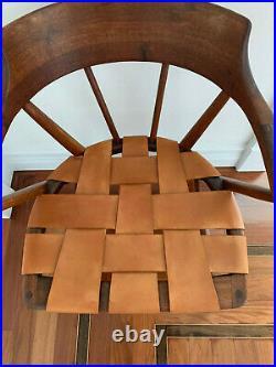 Rare Pair of Walnut Captain Chair by Wharton Esherick