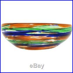 Rare Pennellate Bowl by Carlo Scarpa/Venini, C. 1940 Martinuzzi-Chihuly Era