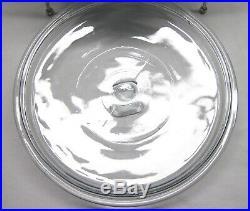Rare Pyrex 2.5 Qt Cinderella Bowl #443 1959 Scroll Metal Stand Burner Turquoise
