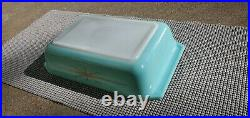Rare Pyrex 575-b 2qt Turquoise Starburst Casserole With LID