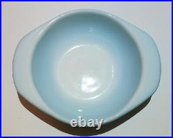 Rare Pyrex Blue 080 Mini Casserole Bowl With Lid HTF Turquoise