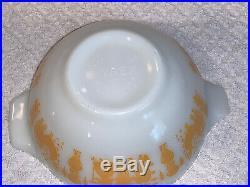 Rare Pyrex Orange Gold Amish Butterprint 441 Small Cinderella Bowl 1-1/2 Pt. EUC